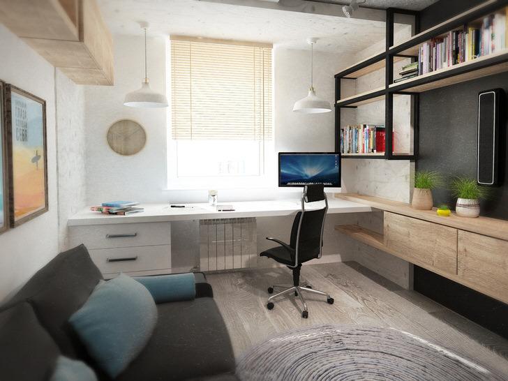 Пример правильно подобранной мебели для детской комнаты в стиле промышленный лофт.
