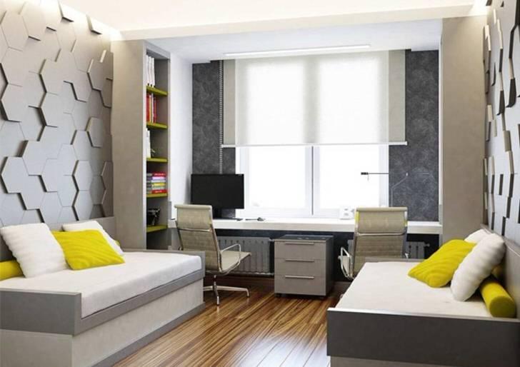 Запоминающееся оформление стен в стиле минимализм - самая яркая деталь интерьера.