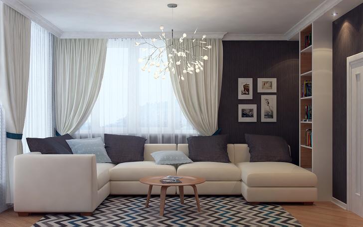 Дизайнерский проект для гостиной