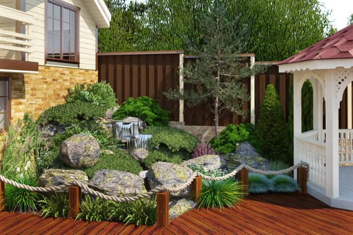 Небольшой двор загородного дома