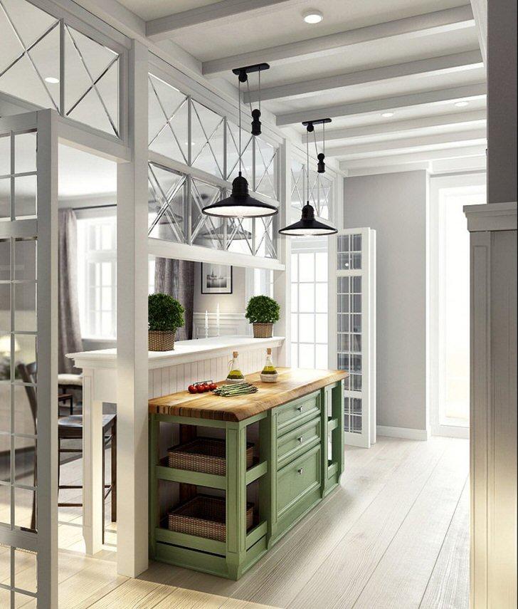 Классическое освещение в стиле лофт. Чаще всего для освещения комнаты применяются одновременно несколько низких потолочных люстр.