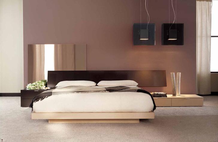 Минималистический дизайн с нотками японского колорита в спальне обычной французской квартиры.