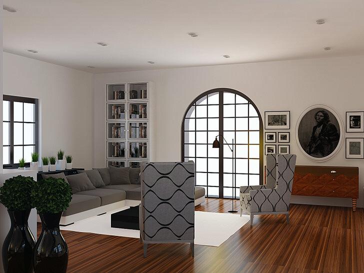 Дизайнерский проект гостевой комнаты