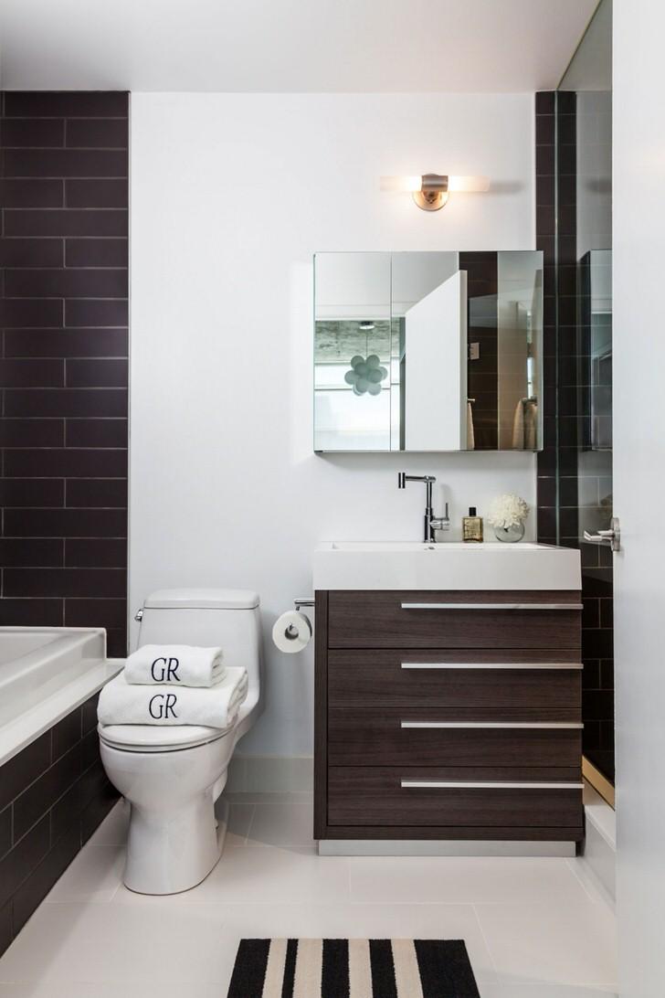 Цвет венге в интерьере ванной