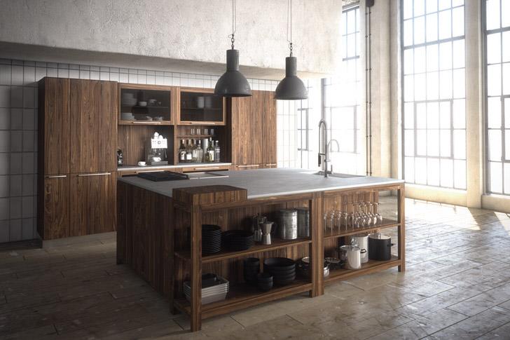 Кухня в английском стиле в загородном особняке на западе Германии.