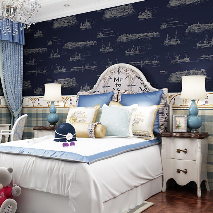 Детская спальня в средиземноморском стиле примечательна уютной, успокаивающей атмосферой.
