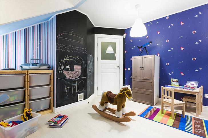 Детский дизайн комнаты стены