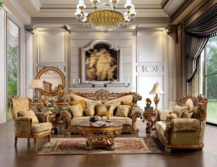 Кресла в стиле ампир с высокими эргономичными спинками удобны и привлекательны.