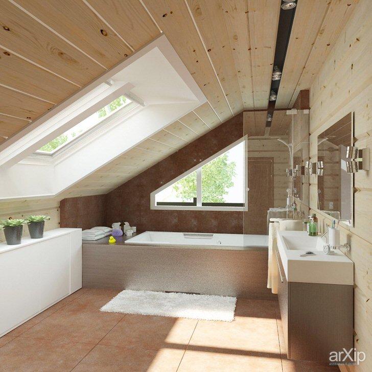 Правильное оформление современной спальни в стиле шале.