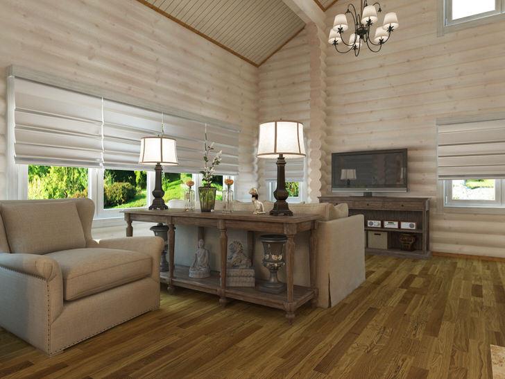 Утонченный дизайн деревенского дома располагает к отдыху. Спокойные тона, правильно подобранное освещение, натуральные материалы отделка - все это поможет отвлечься от быстротечного темпа жизни в большом городе.