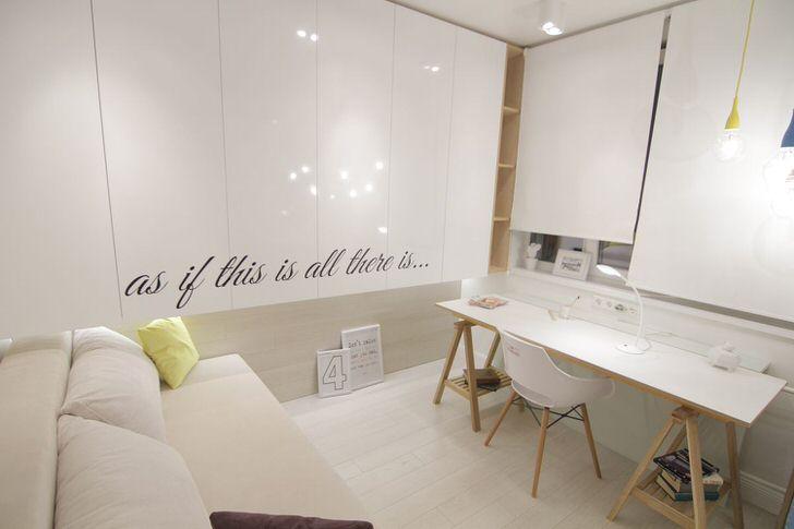Гостевая комната в стиле скандинавский минимализм.