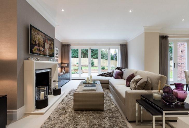 Пример правильного подбора меблировки для гостевой комнаты в неоклассическом стиле.
