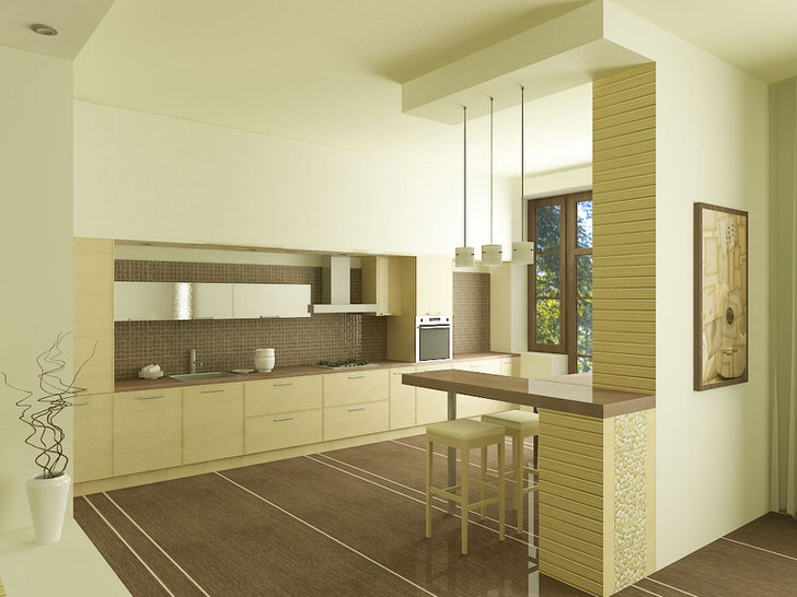 Для украшения квартиры-студии в стиле японского минимализма использовались необычные композиции в вазах.