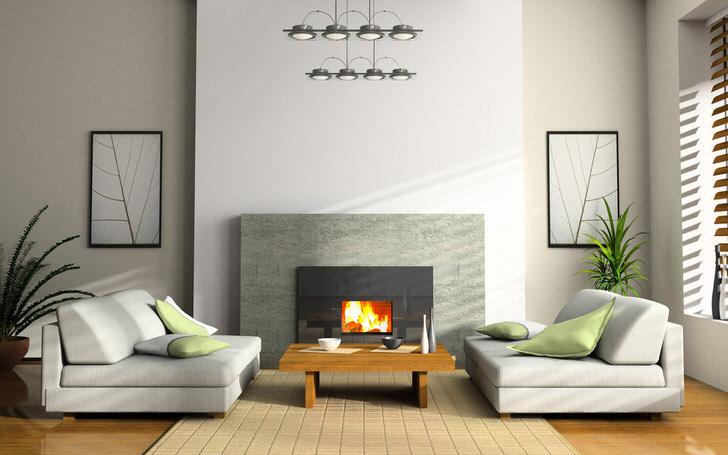 В современной гостиной присутствует такое направление стиля, как японский минимализм. Лаконичные формы мебели, сдержанное оформление, правильное освещение делают комнату по-настоящему уютной.