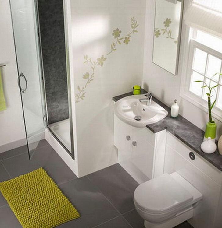 Стильная душевая кабина в небольшом санузле станет отличной альтернативой традиционной ванне.