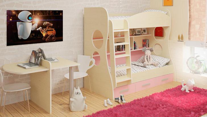 Отличный вариант для оформления детской комнаты - модульная мебель. Стильное решение для функционального дизайна.