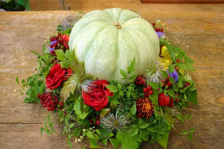 Осенние композиции из овощей и цветов своими руками фото 220