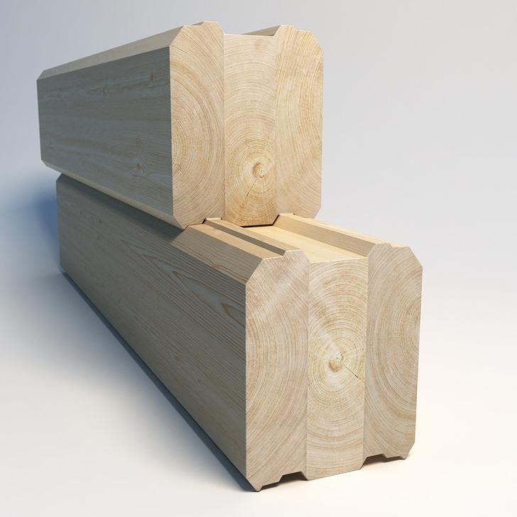 Профилированный клееный брус - для быстрого возведения дома. Усадка стен из такого бруса составит 1-2 процента за год.