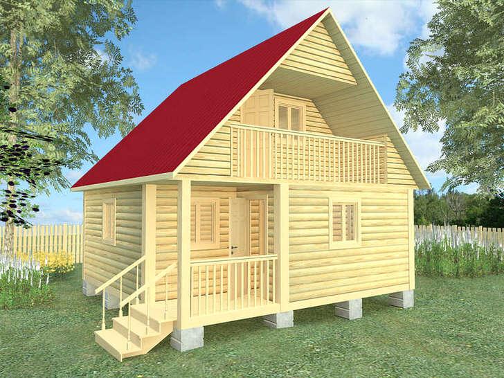 Общий внешний вид дома с баней.