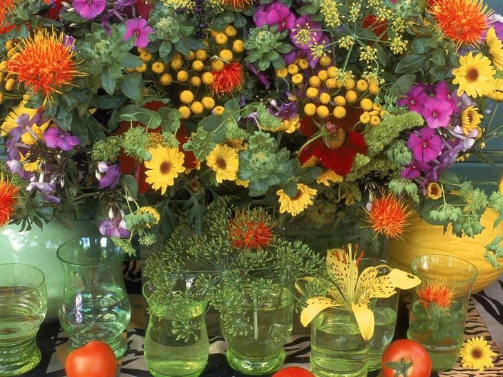 Осенние композиции из овощей и цветов своими руками фото 404