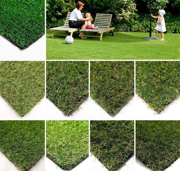 Для предания респектабельного вида зонам отдыха на приусадебном участке можно выбрать искусственный газон с разными характеристиками: высота ворса, плотность и ширину, цвет газона.