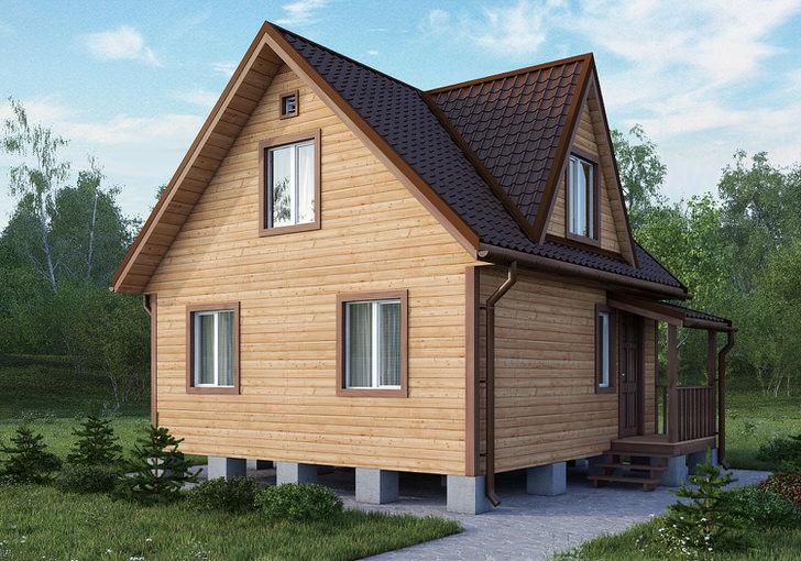 Проект дома из бруса с кукушкой.