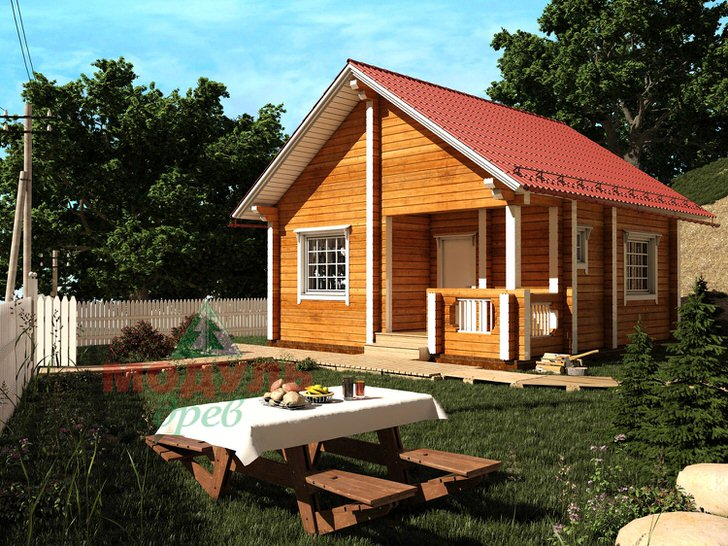 Дом из бруса для дачи