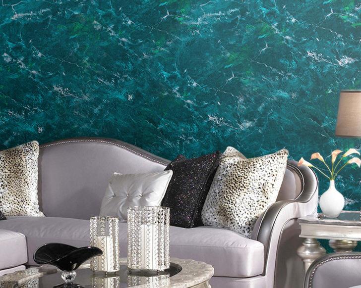 Роскошная стена под дорогой отполированной мрамор, для роскошного интерьера просторной гостиной.