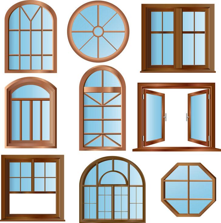 Окна от привычных прямоугольных, до арочных и круглых могут изготовить фирмы с современным технологическим оборудованием.
