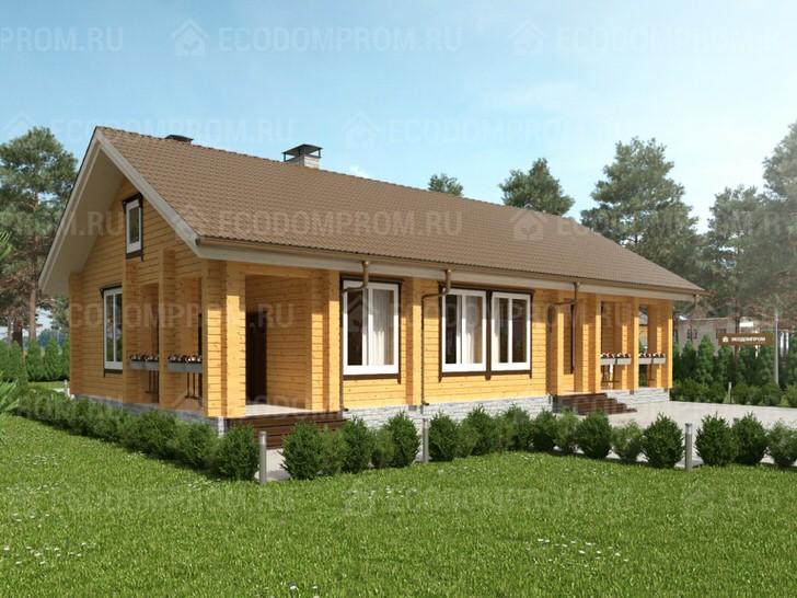 Просторный дом из бруса 9 на 16 метров, общая площадь 117, 4 кв. м.