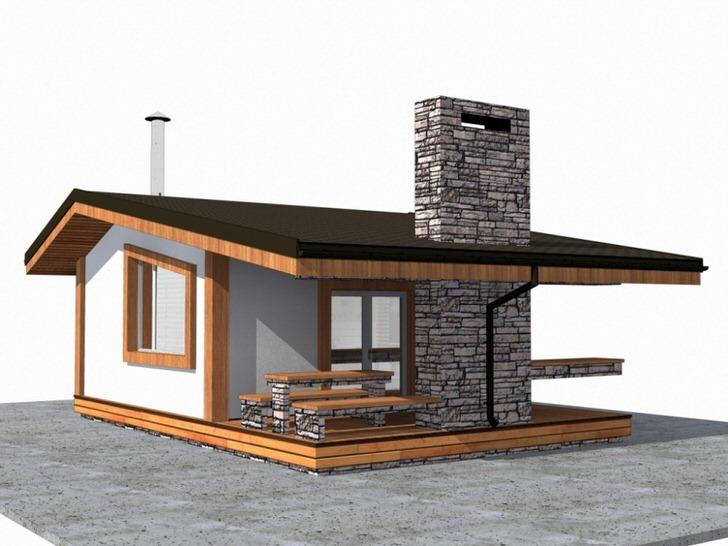 проект участка дом баня гараж фото