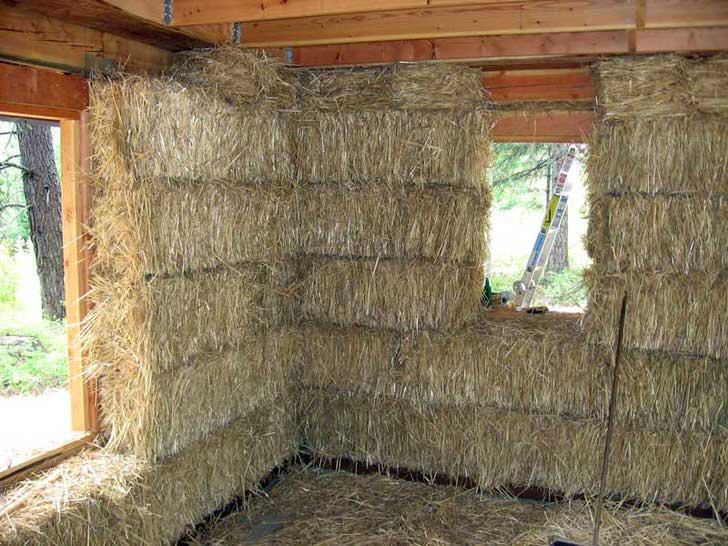 Каркасный дом с утеплителем из соломы. Экологичный и пожароопасный.