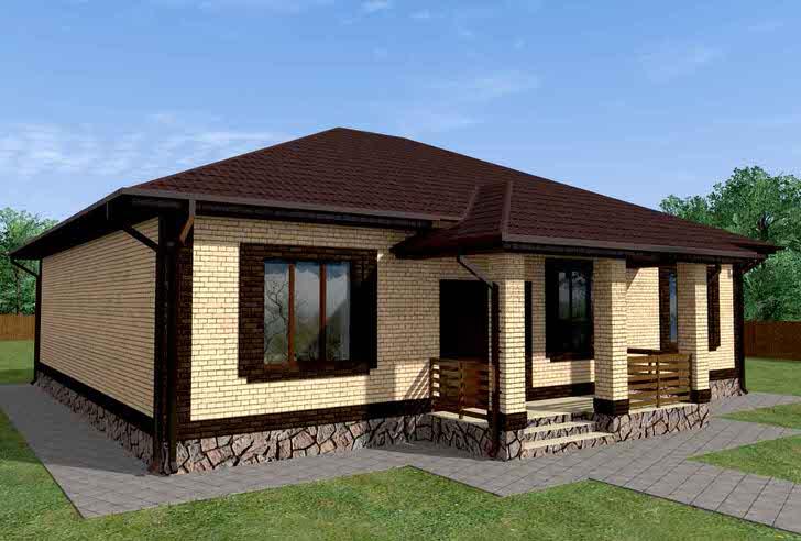 Проект одноэтажного дома с мансардой Проект моего дома