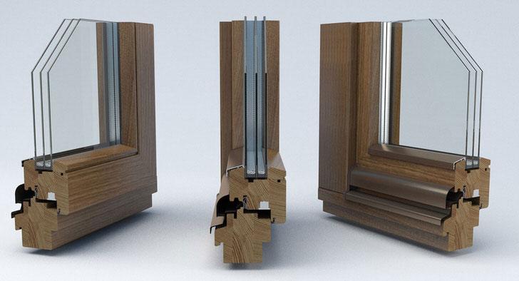 Не дешёвое удовольствие - окна из клееного морёного дуба с двухкамерными стеклопакетами.