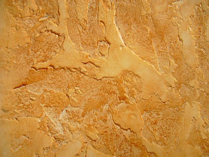 Большой популярностью в отделки больших помещений пользуется декоративная штукатурка с имитацией камня травертина и песчаника.