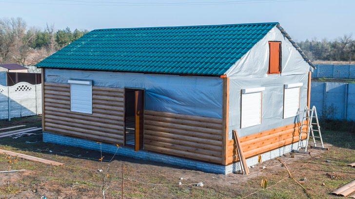 Утеплённый каркасный дом