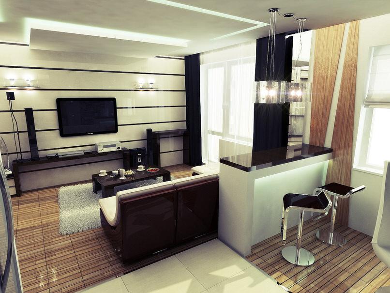 Стильная комната-студия