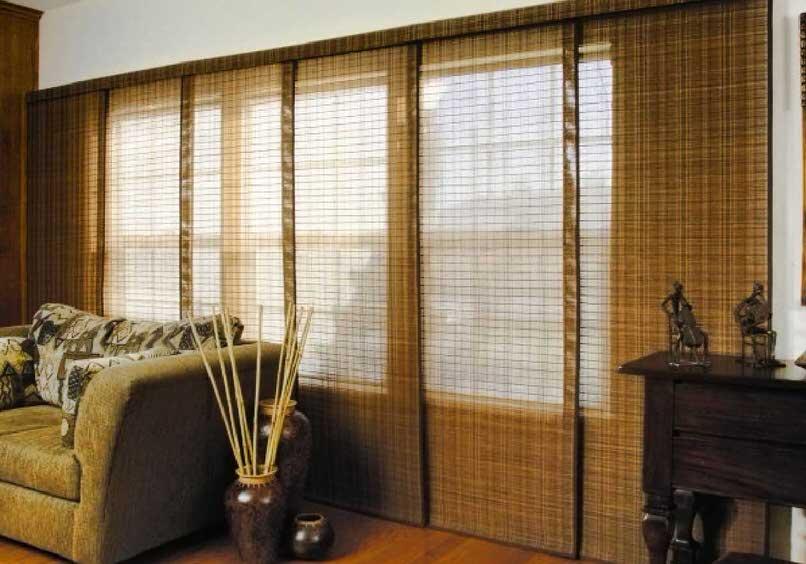 Японские шторы из бамбука.