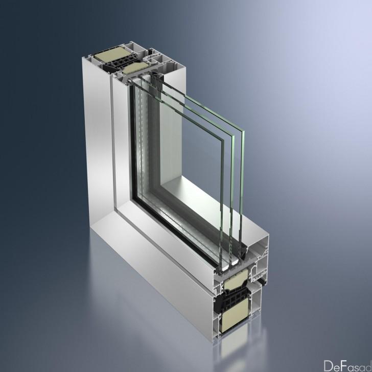 Профиль алюминиевого окна с термоизоляцией